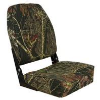 HIGH BACK FOLD DOWN BOAT SEAT, CAMOUFLAGE- Mossy Oak Break Up
