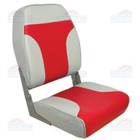 HIGH BACK FOLD DOWN SEAT-High Back Fold Down Gray/Red