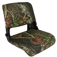 SKIPPER DELUXE FOLD DOWN SEAT-Molded Seat w/Cushions, Mossy Oak Break Up