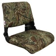 SKIPPER DELUXE FOLD DOWN SEAT-Molded Seat w/Cushions, Mossy Oak Duck Blind