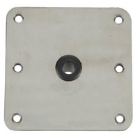 "KINGPIN STAINLESS STEEL  DECK BASES-7"" x 7"" Stainless Steel Base 3/4""  Center Hole Kingpin"