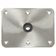 "KINGPIN STAINLESS STEEL  DECK BASES-6"" x 8"" Stainless Steel 3/4"""