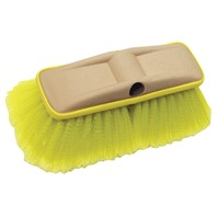 "8"" DELUXE BLOCK BRUSH WITH BUMPER-Wash Brush, Soft w/Flagged Ends (Yellow)"