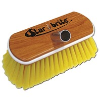"8"" SYNTHETIC WOOD BLOCK BRUSH WITH BUMPER-Soft Scrub, Yellow"