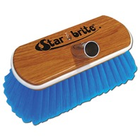 "8"" SYNTHETIC WOOD BLOCK BRUSH WITH BUMPER-Medium Scrub, Blue"