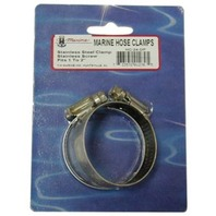 """STAINLESS STEEL HOSE CLAMPS, DISPLAY PACKED PAIR-Std 6, 3/4"""" - 7/8"""""""
