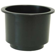 "LCH-1-DP Boat Large Cup Holder, Black with 3/8"" ID Hose Drainage"