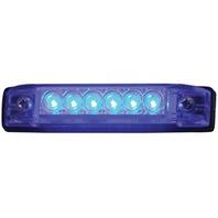 """SLIM LINE WATERPROOF LED UTILITY STRIP LIGHTS-4"""", 6 Blue LEDs"""