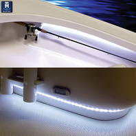 ADHESIVE BACKED MOUNTING CHANNEL FOR BOAT ROPE LIGHTS- 6'