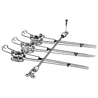 "ROD TAMER ROD STRAPS-18"" Deck Mount, Holds 7 Rods"