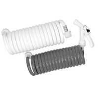 WASHDOWN STATION -Coiled Hose Only, 25' White, w/Pistol Grip Nozzle