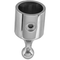 "BALL & SOCKET TOP FITTING, STAINLESS STEEL-7/8"" x 1-1/8"" SS Top Cap"