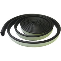 "WEATHER SEAL TAPE-3/8""W x 3/16""H x 10'L, Black"