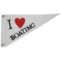 NYLON PENNANTS-I Love Boating