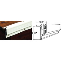 "DOCK-PRO  SMALL EDGE GUARD, 2-1/4""-25' Coil Length, 2-1/4""H x 1-3/8""D, White"