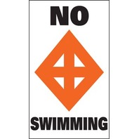SUR-MARK BUOY LABELS-No Swimming (While Qtys Last)