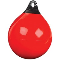 "TUFF END  ORANGE INFLATABLE VINYL BUOY-9"" dia., 28"" Circ., 14 lbs Buoyancy"