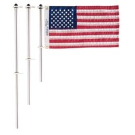 "FLAG POLE WITH CHARLEVOIX  FLAG CLIPS-18"" Flag Pole w/Clips"