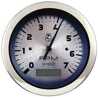"STERLING OEM SERIES PREMIUM GAUGE-3"" Tachometer/Hourmeter, Electric, 0-7000 RPM"