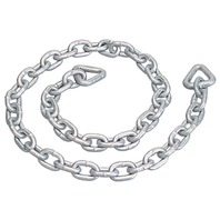 "ANCHOR CHAIN, GALVANIZED-6' Overall Length, 1/4"" Chain Link Size"