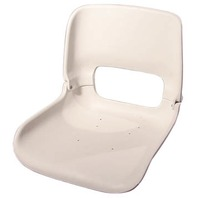 ALL WEATHER LOW BACK SEAT ONLY-Flat Bottom Seat Only, White