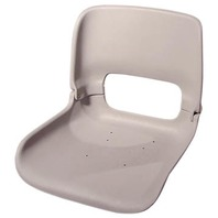 ALL WEATHER LOW BACK SEAT ONLY-Flat Bottom Seat Only, Dark Gray