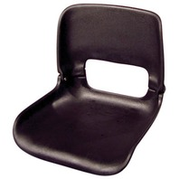 ALL WEATHER LOW BACK SEAT ONLY-Flat Bottom Seat Only, Black