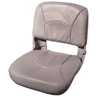 ALL WEATHER HIGH BACK BOAT SEAT WITH CUSHIONS, Gray/Gray