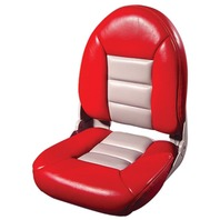 NAVISTYLE  HI-BACK SEATS-Red/Gray Vinyl