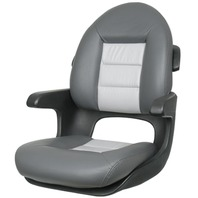 ELITE HIGH BACK HELM SEAT-Charcoal/Gray
