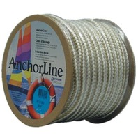 "BRAIDED NYLON ANCHOR LINE-Gold/White 3/8"" x 100'"