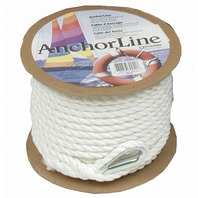"WHITE TWISTED NYLON ANCHOR LINES-1/2"" x 150'"