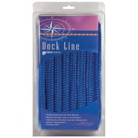 BRAIDED NYLON DOCK LINE-3/8  x 15' Royal Blue