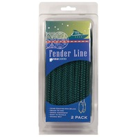 BRAIDED NYLON DOCK LINE-1/2  x 20' Hunter Green