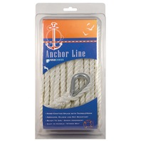 "TWISTED WHITE NYLON ANCHOR LINE-3/8"" x 50'"