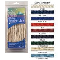 BRAIDED NYLON FENDER LINES-3/8  x 6' Hunter Green