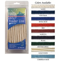 BRAIDED NYLON FENDER LINES-3/8  x 6' Black