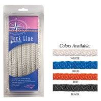 SOLID BRAID MULTIFILAMENT POLYPROPYLENE DOCK LINE-1/2  x 25 White