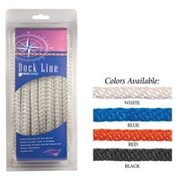 SOLID BRAID MULTIFILAMENT POLYPROPYLENE DOCK LINE-3/8  x 20 Blue