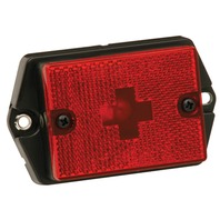 TRAILER STANDARD CLEARANCE/MARKER LIGHT WITH REFLECTOR-Red, Ear Mount