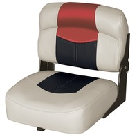BLAST-OFF TOUR SERIES 17  CENTER BUDDY BOAT SEAT -Mushroom/Black/Red