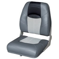 BLAST-OFF TOUR SERIES HIGH BACK FOLDING SEAT -Charcoal/Gray/Black
