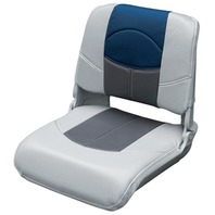 BLAST-OFF TOUR SERIES PRO STYLE PLASTIC FOLDING SEAT-Gray/Charcoal/Blue