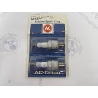 M43FF AC-DELCO GM Marine Engine Spark Plug 2-Pack
