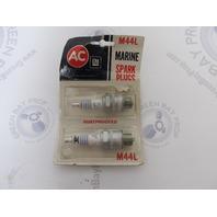 M44L AC Delco GMC Marine Engine Spark Plugs Set of 2