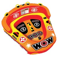 "BINGO TWO-WAY COCKPIT TOWABLE-Bingo 2 Tube, 75"" x 74"", 2-Rider"
