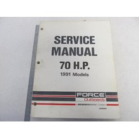 OB4589 Mercury Force Outboard Service Manual 70 HP 1991