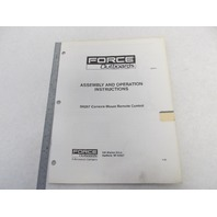OB4614 Force Outboard 5H257 Remote Control Assembly & Operation Instructions