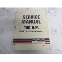 OB4643 Mercury Force Outboard Service Manual 150 HP 1989-91 A Models