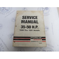 OB4645 1988-1991 Mercury Force Outboard Service Manual 35-50 HP